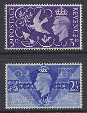 GB 1946 VICTORY FINE MINT MUH/MNH SG491 SG492