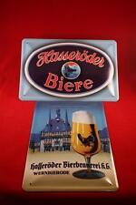 Trinkt Deutsches Bier Beer Bar Deko geprägt Blechschild 25x50 Metallschild XXL03