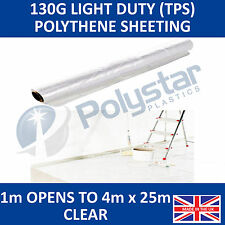Clear Polythene Sheeting 4m wide 25m long TPS