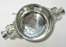 """SOLID PEWTER HIGHLAND QUAICH SCOTTISH  """"SLAINTE MHATH""""  ENGRAVED MADE IN THE UK"""