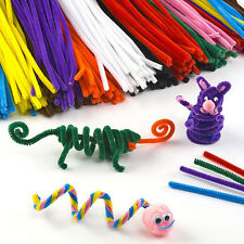 100 pcs Chenille Craft Stems Pipe Cleaners Kids Educational Toys Twist Rods 30cm