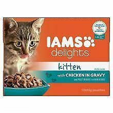 Iams Delights Kitten with Chicken in Gravy - 85g - 216257