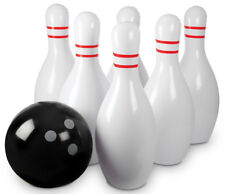 """Giant Inflatable Bowling Game Set - 25"""" Ball With Six 30"""" Pins Outdoor Toys"""