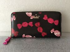 Kate Spade Candy Do Wonders Candy Blk Leather Lacey Wallet Candy Sinclair Drive