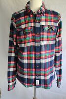 ABERCROMBIE & FITCH Men's Long Sleeve Muscle Flannel Shirt size XL New
