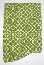 "Waverly Home Classics 100% Cotton Lattice Valance ~ Green Ivory ~ 15"" L x 48"" W"
