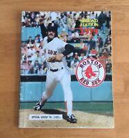 Boston Red Sox Fenway Park Official 1979 Program Scorebook Magazine 2nd Ed