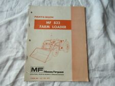 1987 Massey Ferguson Mf 832 Farm Loader Parts Catalog Book Manual