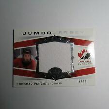 2014 Upper Deck Team Canada Juniors Jumbo Jersey Brendan Perlini #/99