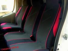 Fiat Ducato (06-13) RED MotorSport VAN Seat COVERS - Single + Double