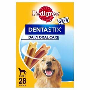 Pedigree 4 pack X 28 = 112 Dentastix Daily Dentasticks Large Dog 25 kg+