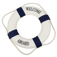 Navy Style Cloth Life Ring Buoy Room Decor Nautical Welcome Aboard Decorative
