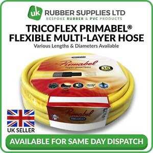 Superior Quality Garden Hose Tricoflex Primabel Flexible Multi-Layer Pipe Yellow
