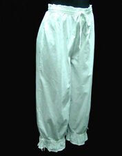 Pantaloons Bloomers Breeches Victorian Civil War White Cotton sizes S to Xl new