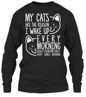 Cat-my Cat Are The Reason Gildan Long Sleeve Tee T-Shirt