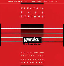Warwick Red Strings Stainless Steel 4-string Bass Media (045-105)