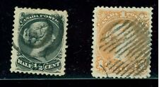 Canada Large Queen 2 Stamps  #21  1/2 ct , #24 1ct Orange , Sound VF Both