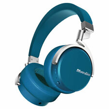Bluedio Vinyl Bluetooth Kopfhörer Dual Drehbar mit Mikrofon On-Ear Blau