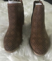 NEW $69.99 Madden NYC Tillana Tan Zip Back Ankle Boots Size 9