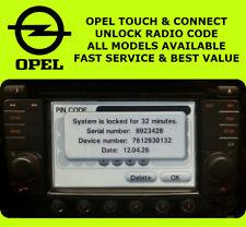 OPEL Vauxhall Touch & connect Codice Radio Sblocca Codice Pin Per Sat Nav unità ✅