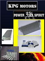 Universal intercooler 450X300X76 MM + 2.5 INCH 63MM aluminium piping HOSE kit