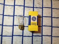 clear GE round logo 130V MADE in USA 11w vintage S14 SIGN BULB 11S14 tested 130V