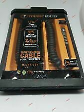 Tough Tested 10 ft Coiled 2.4 Amp High Speed Micro USB Charging Cable.