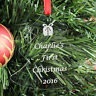 Personalised BABY CHILD First Christmas Tree Decoration Bauble Gift Present 1st