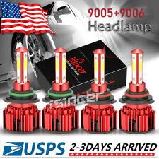 4 Side 9005+9006 LED Headlight Bulb Kit for Chevy Silverado1500 2500 HD 2001-06