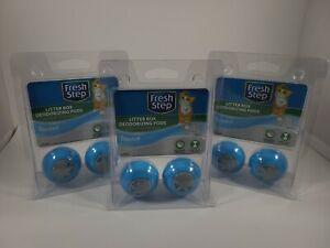 Fresh Step Litter Box Deodorizing Pods Adhesive Air Freshener, Lot of 3 NEW