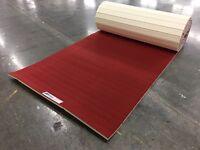 """EZ Flex 6'x42'x1"""" Red EVA Cheer/Gymnastics Carpet Bonded Foam  (Mat C41)"""