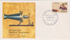 (K88-30) 1976 AU FDC 18c 100 years of Telephone transmission (AE)