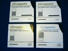 Lot of 4 Pioneer 6 Disc Multi Cd Cartridge Compact Disc Magazines