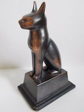 19th - Antique / Vintage Egypt Egyptian Bronze Cat Figurine Statue 9""