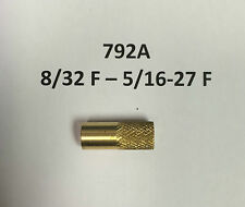 SpinJag Adapter  792A 8/32 F - 5/16-27 F , Standoffs Brass