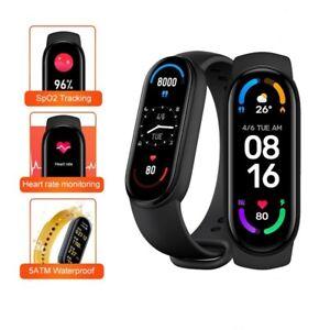 Xiaomi Mi Band 6 Amoled Smart Watch 5ATM Waterproof Heart Rate Monitor Blood O2