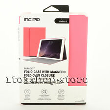 Incipio Faraday Folio Fold Stand Cover Impact Case for iPad Air 2 Coral Pink NEW