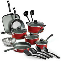 Tramontina 18 Piece Nonstick Pots & Pans  Cookware Set  Kitchen Cooking NEW