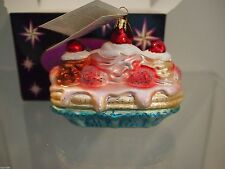 Christopher Radko Ornament Christmas Xmas Triple Dip Split Icecream Rare Htf Box