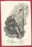 Estampa Grabado de San Pelegryn andachtsbild santino holy card santini