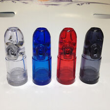Snuff Bottle Ultimate Bullet Hardened Acrylic Clear with Clear Bottoms GreatFW