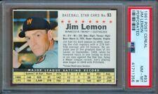 1961 POST CEREAL #93 JIM LEMON TWINS PERFORATED PSA 8