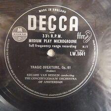 vinyl lp record BRAHMS academic festival + tragic overture, E. van Beinum, Decca