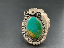 Kingman Turquoise in Sterling Silver Ring by Navajo Artist Allison Johnson