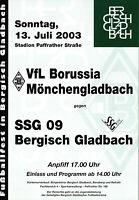 13.07.2003 SSG 09 Bergisch Gladbach - Borussia Mönchengladbach