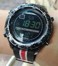 SUUNTO X-Lander Reloj Militar Hecho En Finlandia Negro! Funcionando!