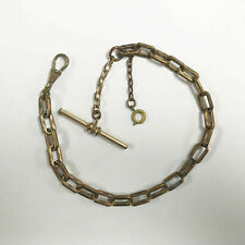 Link Chain Button Bar & Spring Clasp e565 Antique Gold Filled Vest Pocket Watch