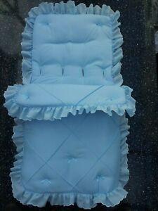 Baby Cosytoes/Footmuff  blue pin tuck