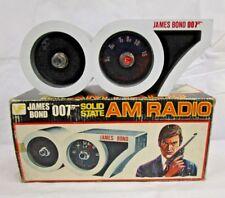 Vintage Novelty VF 3D James Bond 007 Desktop Rotary AM Transistor Radio W/ Box