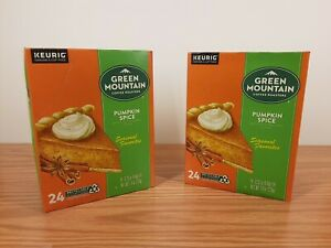 Lot of 2 Green Mountain Coffee Limited Edition Pumpkin Spice K-Cup Pod Exp 2022